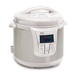 Elite Platinum 8 Qt. 13-Function White Electric Pressure Cooker by Elite