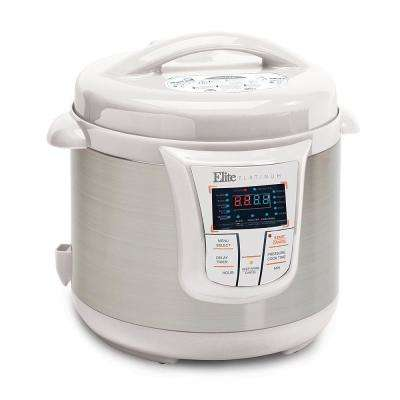 Platinum 8 Qt. 13-Function White Electric Pressure Cooker
