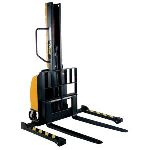 Vestil 63 inch Narrow Mast Stacker with Power Lift and Adjustable Forks by Vestil