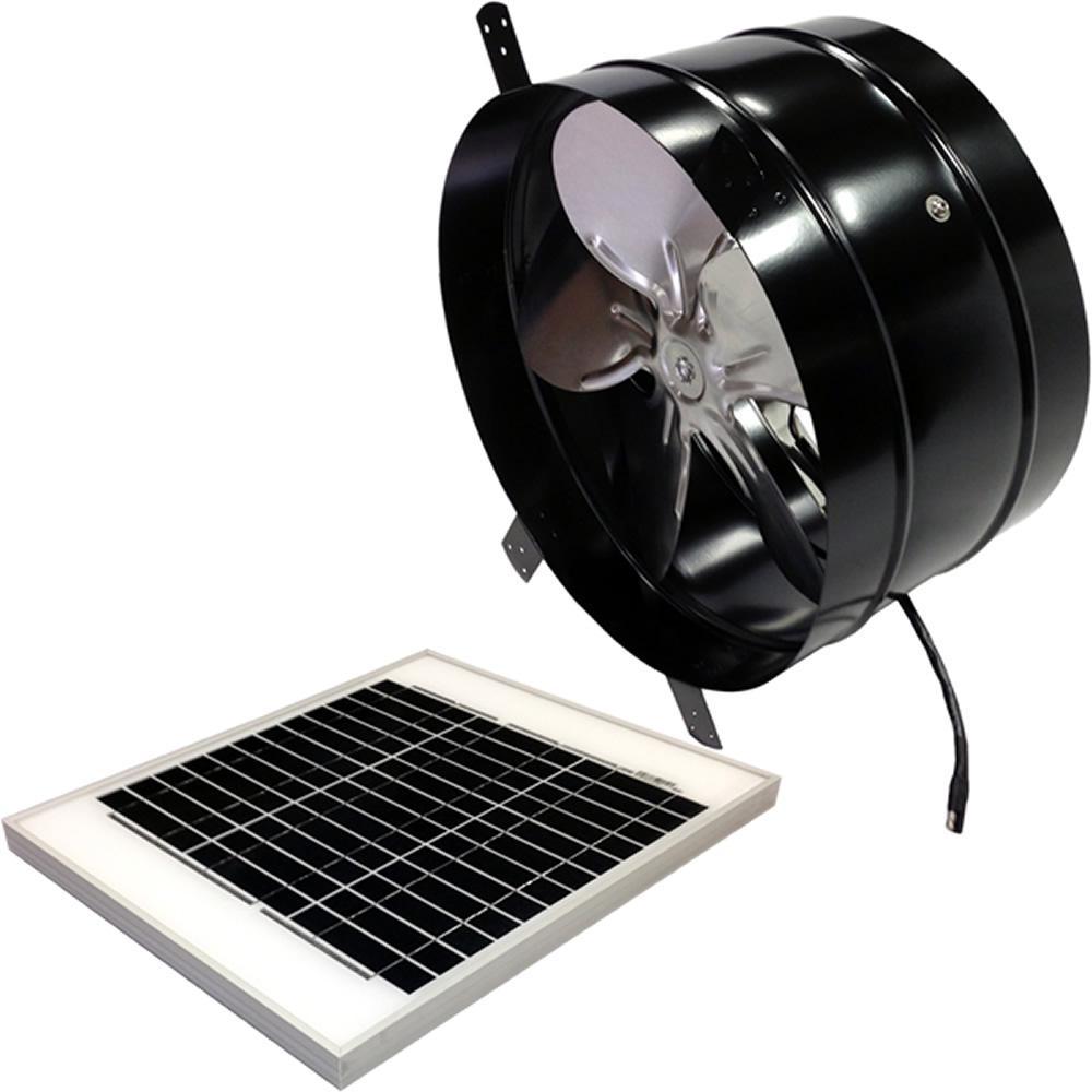 Cardinal Ventilation 20 Watt 1350 Cfm Black Gable Solar