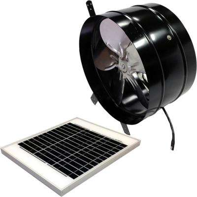 20-Watt 1350 CFM Black Gable Solar Attic Fan