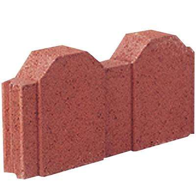 12 in. x 2 in. x 5.25 in. Straight Picket River Red Concrete Edger (224-Pieces/220 sq. ft./Pallet)