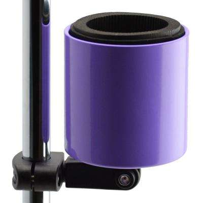Kroozercups Deluxe Drink Holder Fits Bars from 5/8 in. to 1-3/8 in. at any Angle with New Super-Tight Grip in Purple