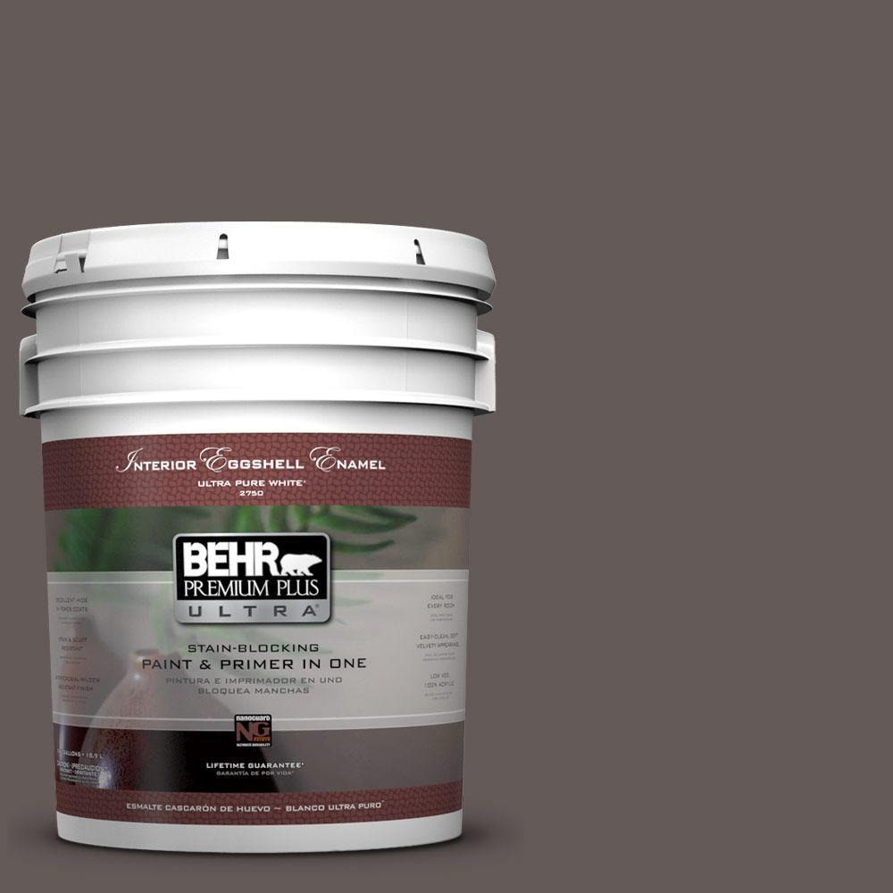 BEHR Premium Plus Ultra 5-gal. #BXC-71 Wood Acres Eggshell Enamel Interior Paint