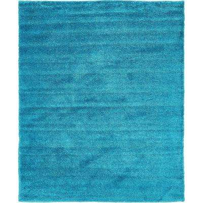 Solo Turquoise 8 ft. x 10 ft. Area Rug