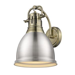 Duncan 4.875 in. Aged Brass Sconce