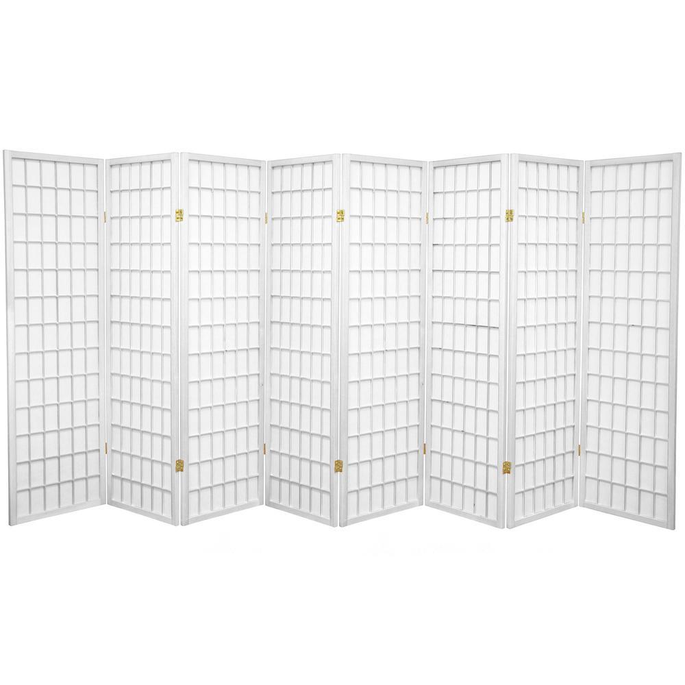 5 ft. White 8-Panel Room Divider