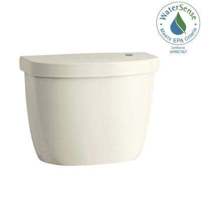 Cimarron Touchless 1.28 GPF Single Flush Toilet Tank Only in Biscuit