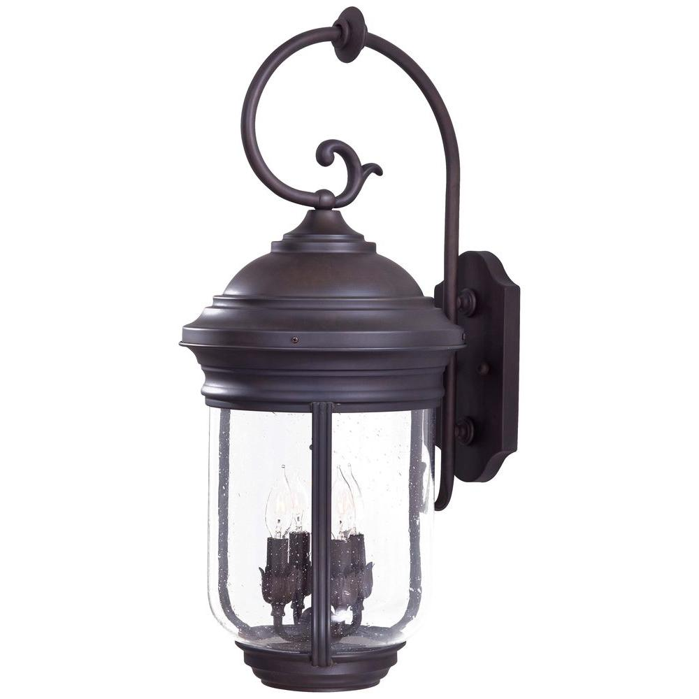 The great outdoors by minka lavery outdoor wall mounted lighting amherst 4 light roman bronze outdoor wall mount workwithnaturefo