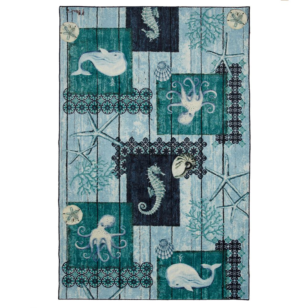 Mohawk Home Indigo Sea Navy 5 Ft X 8 Area Rug