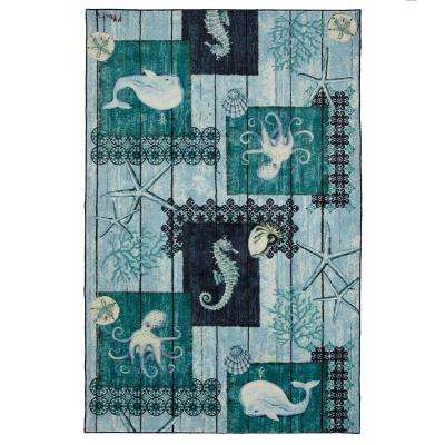 Indigo Sea Navy 5 ft. x 8 ft. Area Rug