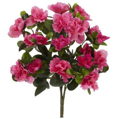 Indoor 13 in. Azalea Artificial Plant (6-Set)