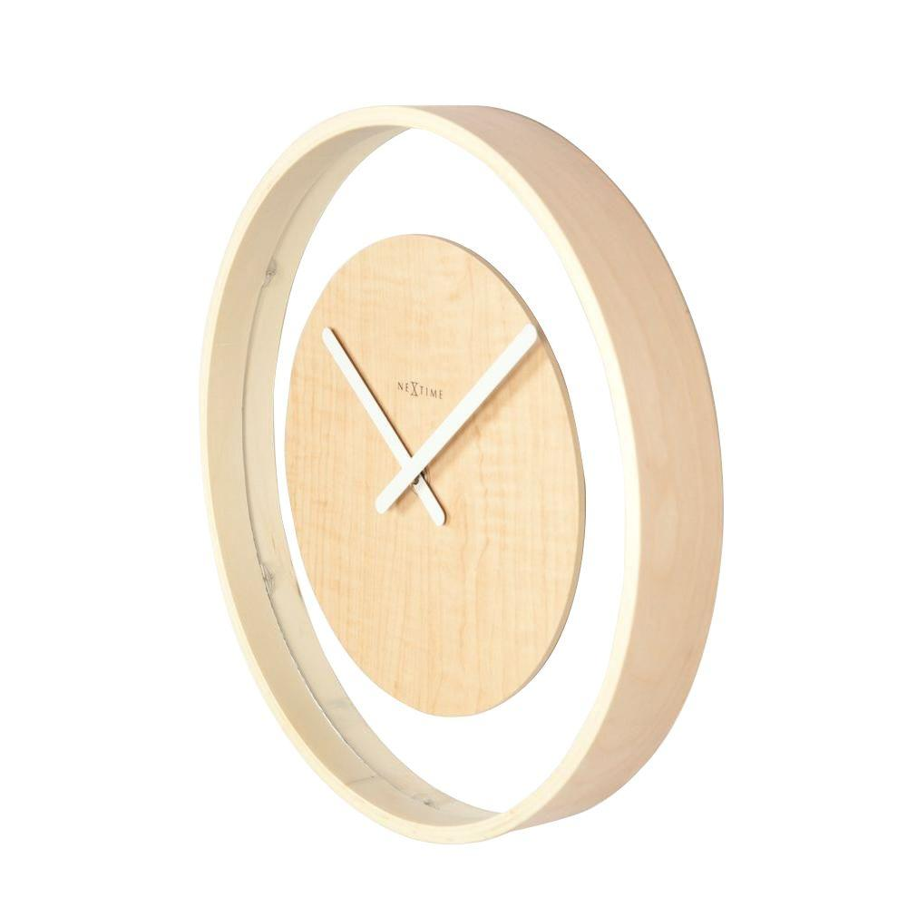 Nextime 11.8 in. Wood Wall Clock