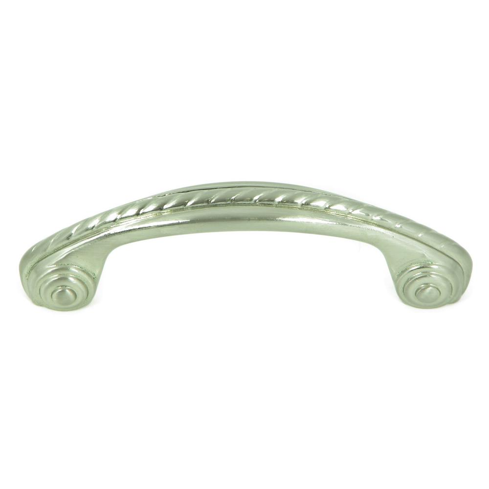 Charleston 3 in. Satin Nickel Rope Design Arch Cabinet Pull (10-Pack)