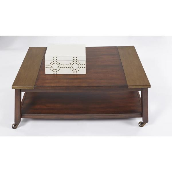 Sydney Dark Ash Copper Metal Castered Tail Table