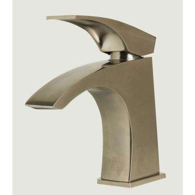 AB1586-BN Single Hole Single-Handle Bathroom Faucet in Brushed Nickel