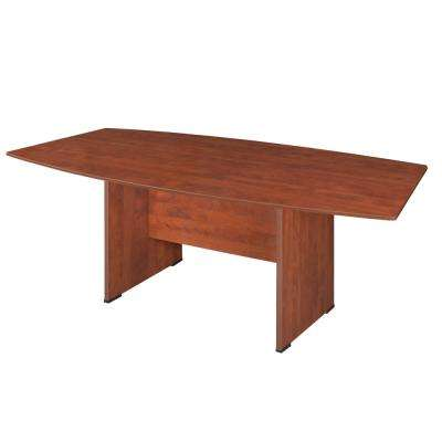 Sandia 95 in. Cherry Boat Shape Conference Table