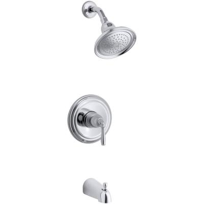 Devonshire 1-Handle Rite-Temp Tub and Shower Faucet Trim Kit in Polished Chrome (Valve Not Included)