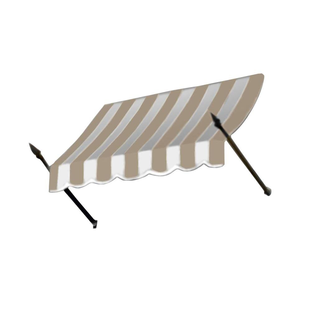 AWNTECH 7 ft. New Orleans Awning (31 in. H x 16 in. D) in Linen/White Stripe