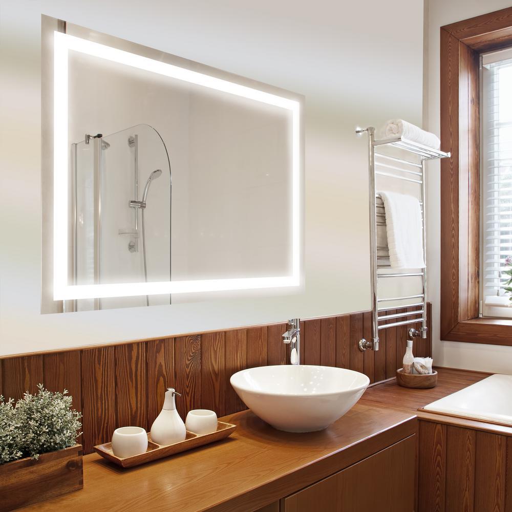 Dyconn Edison 48 inch x 36 inch LED Wall Mounted Backlit Vanity Bathroom Mirror by Dyconn