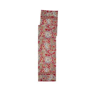 Rhapsody 13 in. x 72 in. Red Paisley Table Runner