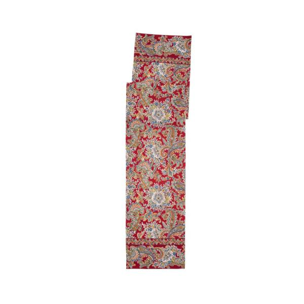 April Cornell Rhapsody 13 in. x 72 in. Red Paisley Table