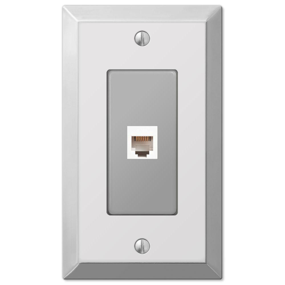 Century 1 Phone Wall Plate, Chrome