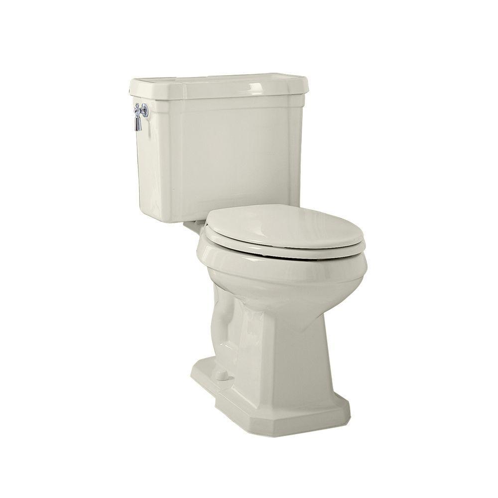 Porcher Lutezia 2-Piece Elongated Toilet in Biscuit-DISCONTINUED