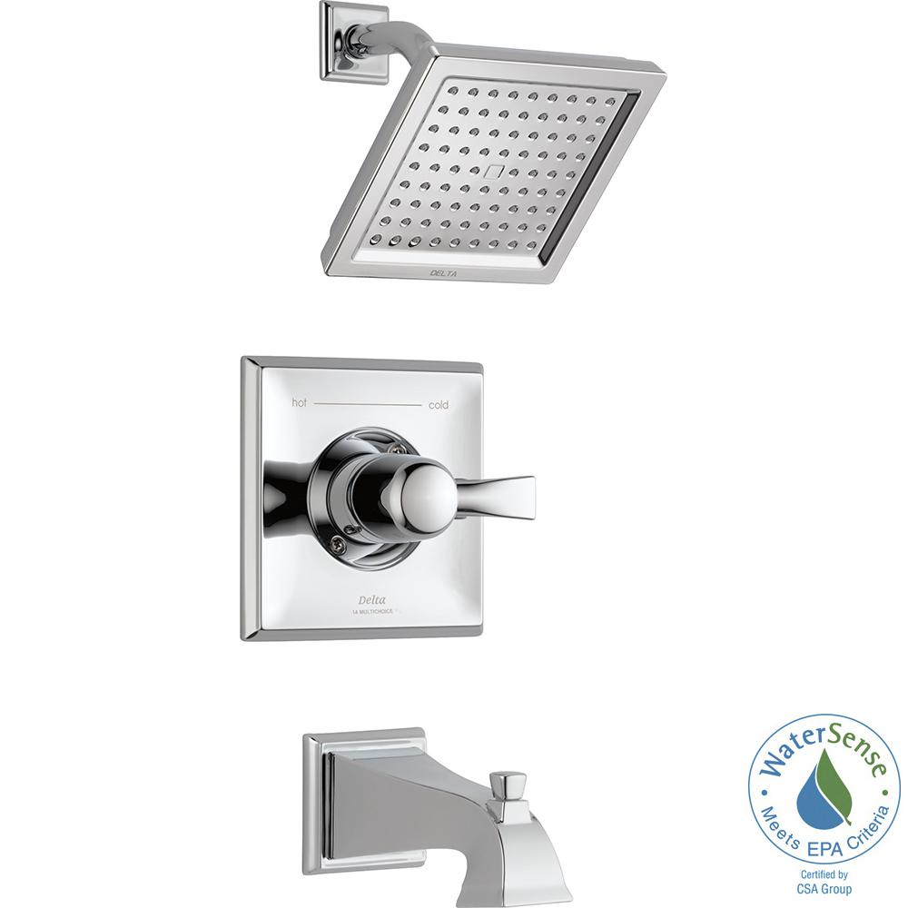 Dryden 1-Handle Tub and Shower Faucet Trim Kit in Chrome (Valve