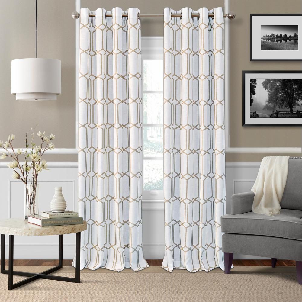 Kaiden Taupe Single Blackout Window Curtain Panel - 52 in. W