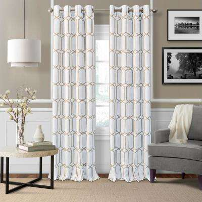 Kaiden Taupe Single Blackout Window Curtain Panel - 52 in. W x 95 in. L