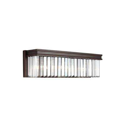 Carondelet 3-Light Burnt Sienna Bath Light