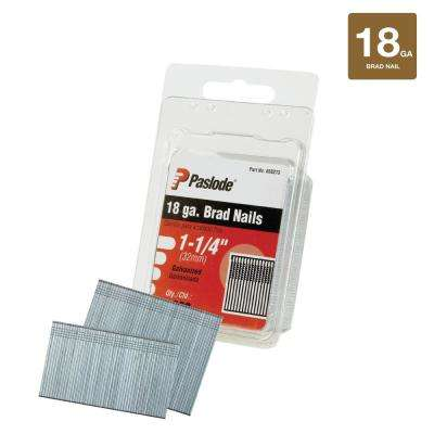 1-1/4 in. x 18-Gauge Galvanized Straight Finish Nail (2,000-Pack)