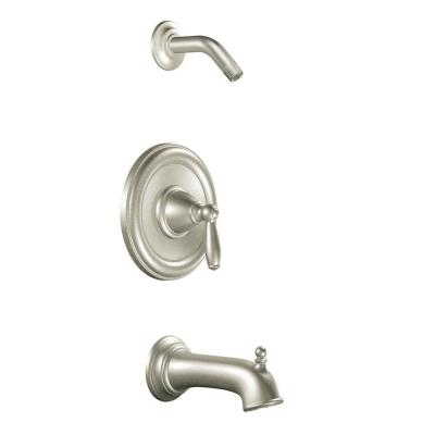 Brantford Single-Handle Posi-Temp Tub and Shower in Brushed Nickel (Valve Not Included)