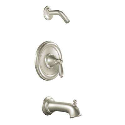 Brantford 1-Handle Posi-Temp Tub and Shower in Brushed Nickel (Valve Not Included)