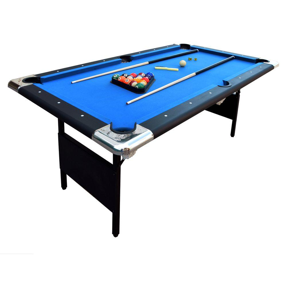 Hathaway Fairmont 6 ft. Portable Pool Table-BG2574 - The Home Depot