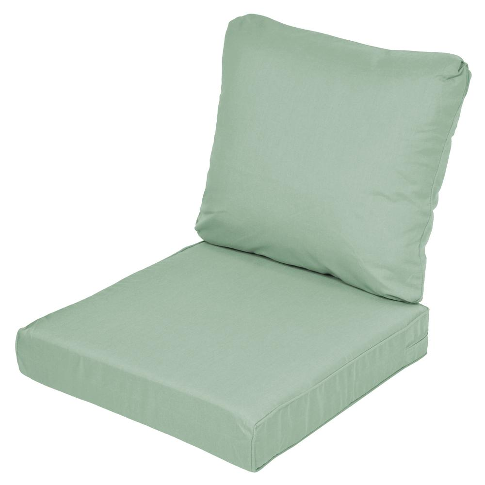 Lemon Grove Sunbrella Spectrum Mist Replacement 2-Piece Outdoor Sofa Cushion