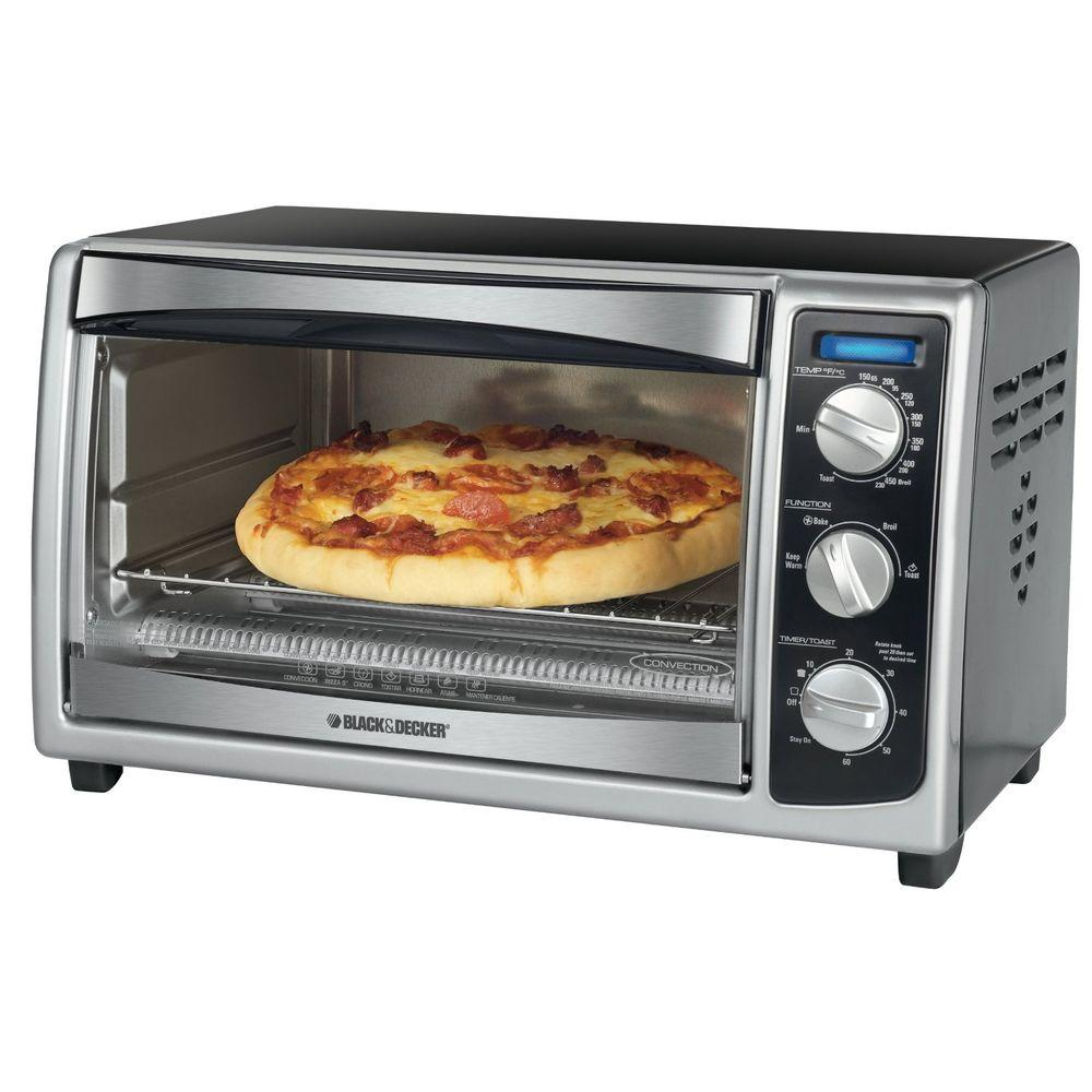 Black Decker 6 Slice Stainless Steel Toaster Oven To1675b
