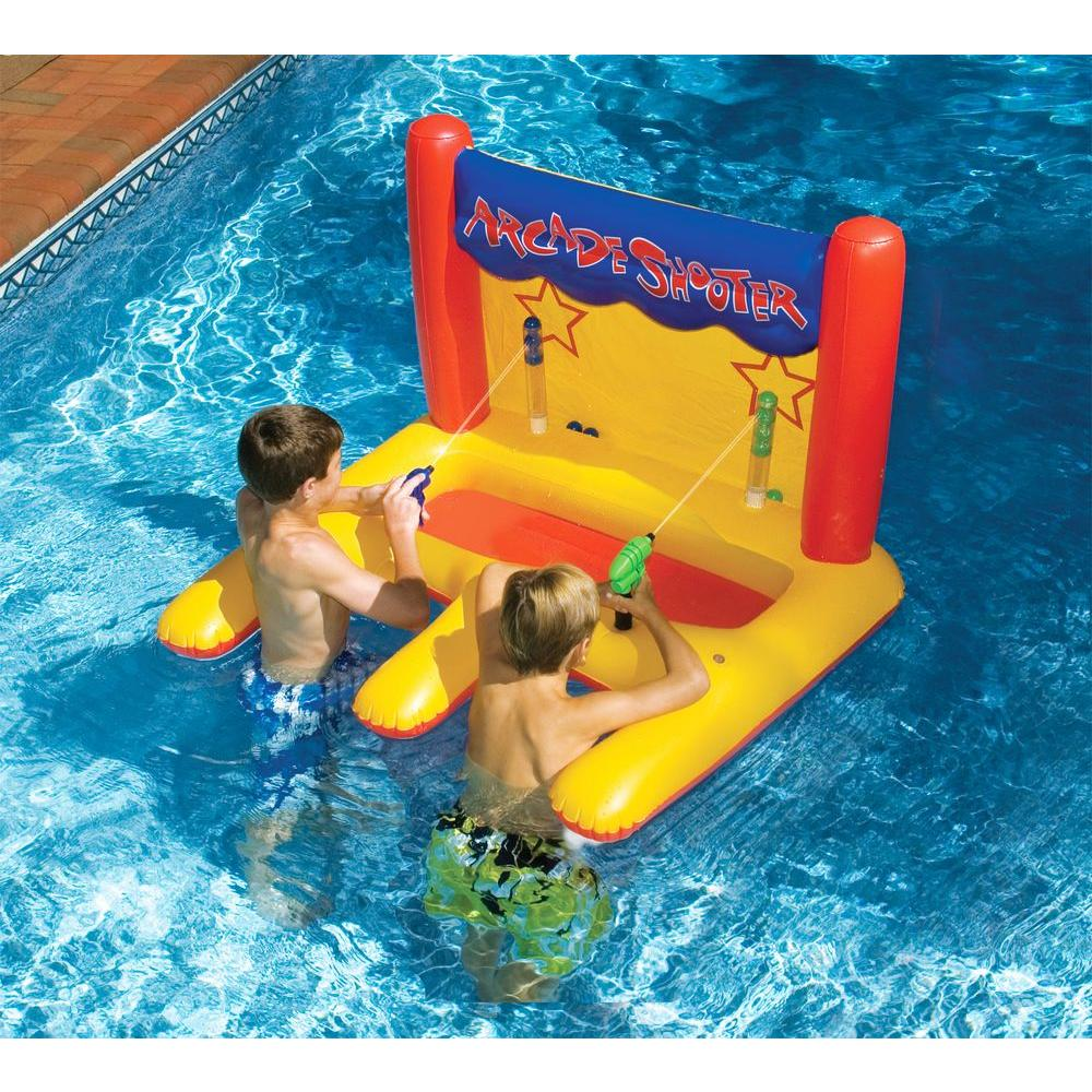 Swimline Dual Arcade Shooter Inflatable Pool Toy Nt266 The Home Depot