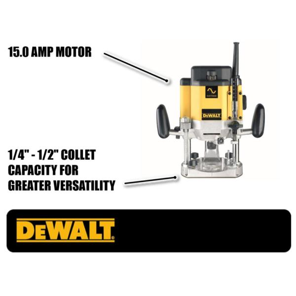 DeWALT DW625 3HP Vitesse Variable Plongée Routeur woodworking tool