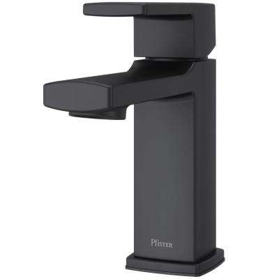 Deckard Single Hole Single-Handle Bathroom Faucet in Matte Black