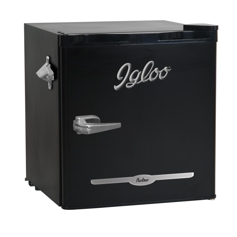 Igloo 1 6 Cu Ft Mini Refrigerator In Black Fr176 Black