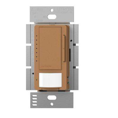 Maestro C.L Dimmer and Vacancy Motion Sensor, Single Pole and Multi-Location, Terracotta