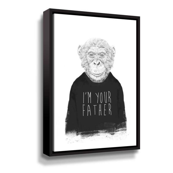 ArtWall I'm your father' by Balazs Solti Framed Canvas Wall Art