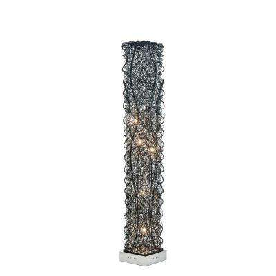 55 in. Silver Floor Lamp Pictured with Warm White LED Bulbs