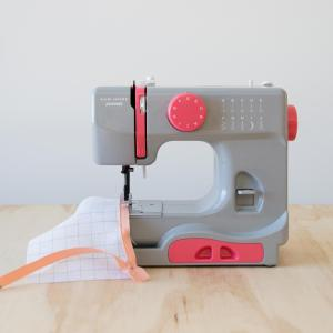 Janome 10 Stitch Portable Compact Sewing Machine with Free Arm (Graceful Gray)