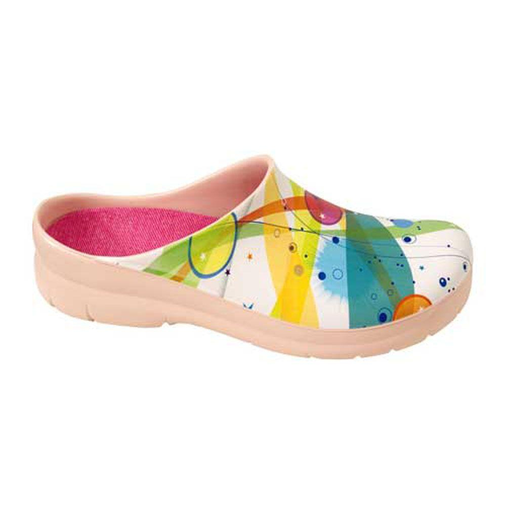Women's Abstract Picture Clogs - Size 8