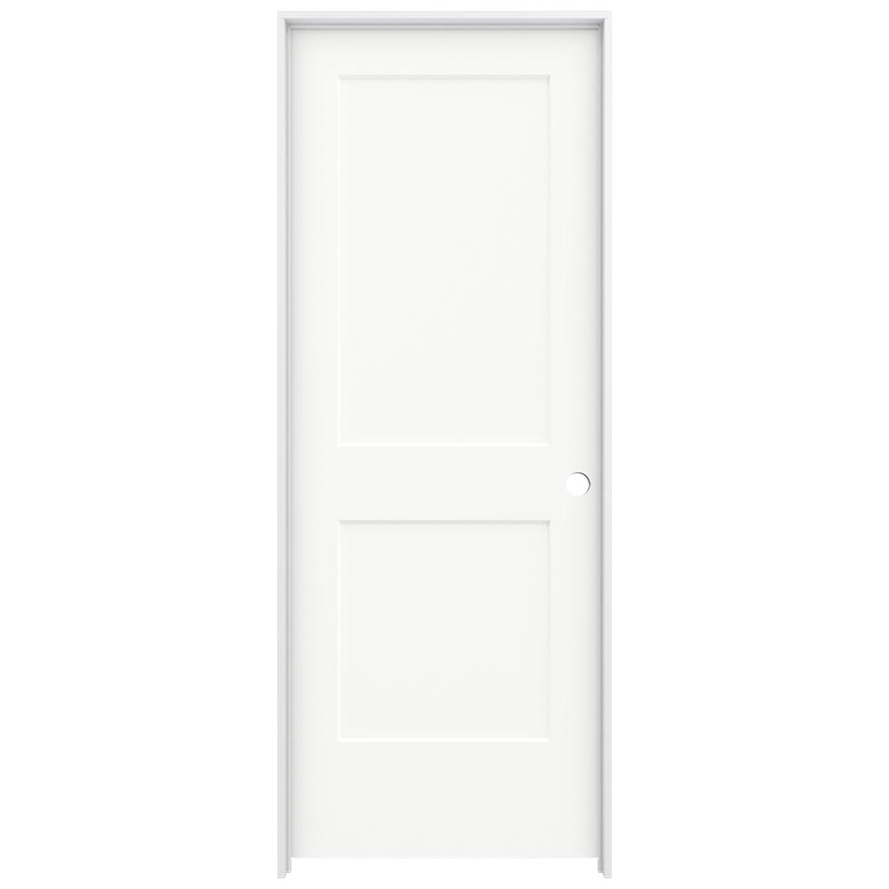 32 in. x 80 in. Monroe White Painted Left-Hand Smooth Solid