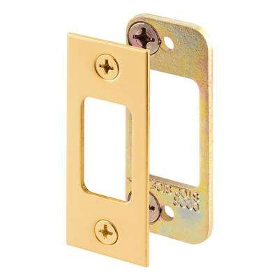 Brass Plated Deadbolt Strike Plate