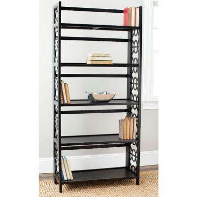 Natalie Black Open Bookcase